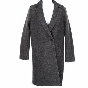 J Crew Daphne Top Coat Boiled Wool Grey NEW
